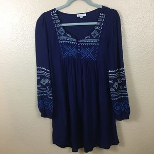 Patrons of Peace boho/peasant blouse sz XS